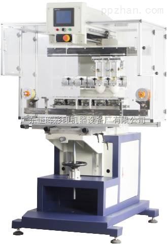 广东恒晖双伺服器五色油盅移印机独立胶头穿梭及自动清洗