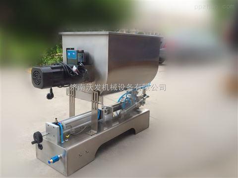 聊城卧式膏体灌装机+花生酱、芝麻酱灌装机=济南沃发机械