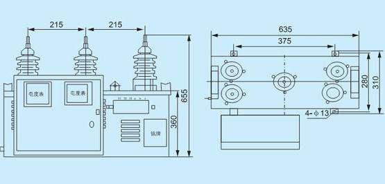 电压二次回路尾端b点,已连接为一点,但并未接地,实际接电表测量时,该
