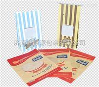 厂家定制爆米花开窗袋 防油纸袋 纸塑开窗铁丝条方底袋