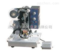 济南电动生产日期打码机*塑料膜皮革打码机厂家*济南沃发机械
